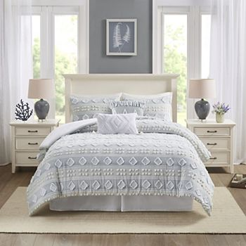 Harbor House Brice Clipped Jacquard 6-piece Comforter Set with Shams Harbor House