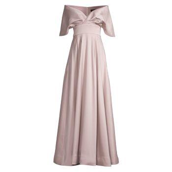 Вечернее платье с открытыми плечами Aidan Mattox