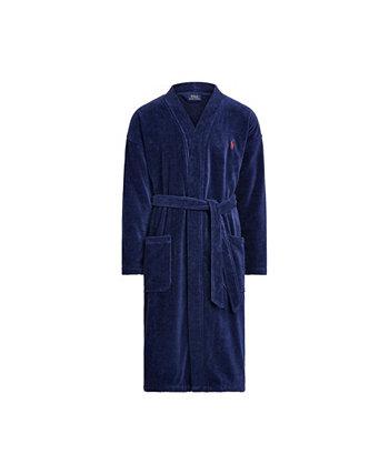 Мужская одежда для сна Мягкий хлопок Кимоно Велюровый халат Ralph Lauren