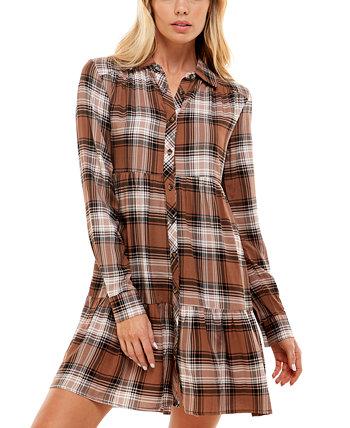 Юниорское клетчатое платье с пышной юбкой Ultra Flirt