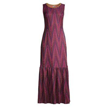 Вязаное макси-платье с зигзагом M Missoni