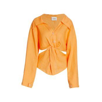 Льняная блузка Rasha Nanushka