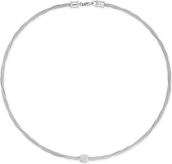 Ожерелье с подвеской из белого золота с бриллиантами 18 карат - 0,14 карата ALOR