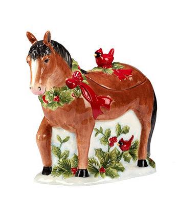 Homestead Christmas 3D Cookie Jar Certified International
