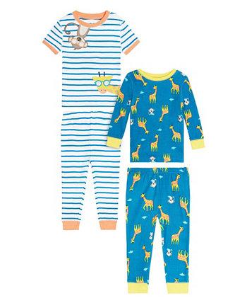 Одежда для сна для новорожденных мальчиков с жирафом, комплект из 4 предметов Koala baby