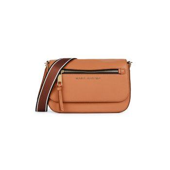Миниатюрная седельная сумка из кожи и искусственной кожи Marc Jacobs