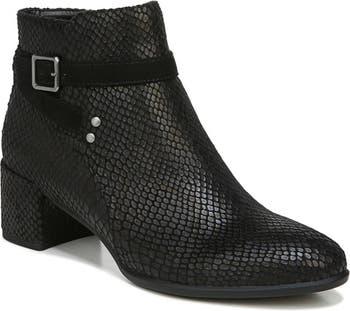 Ботинки на блочном каблуке с тиснением под змеиную кожу - Доступна широкая ширина SOUL Naturalizer