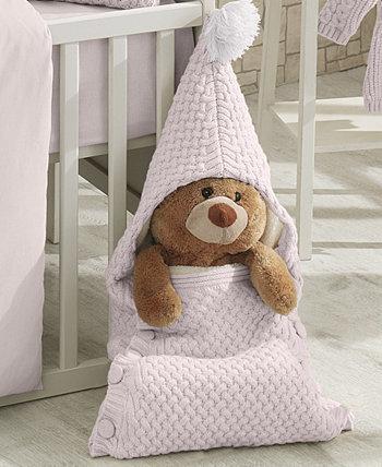 Plushy Knitted Baby Sleep Bag Blanket Nipperland