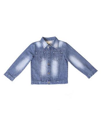 Джинсовая куртка для мальчиков от малышей Kinderkind