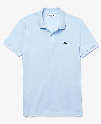 Мужская рубашка-поло приталенного кроя из эластичного хлопка Lacoste