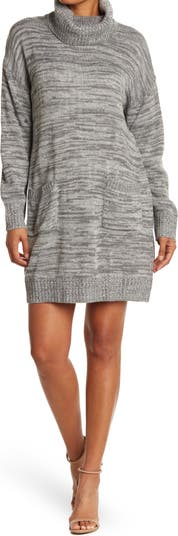 Платье-свитер с круглым вырезом и накладными карманами Eliza J
