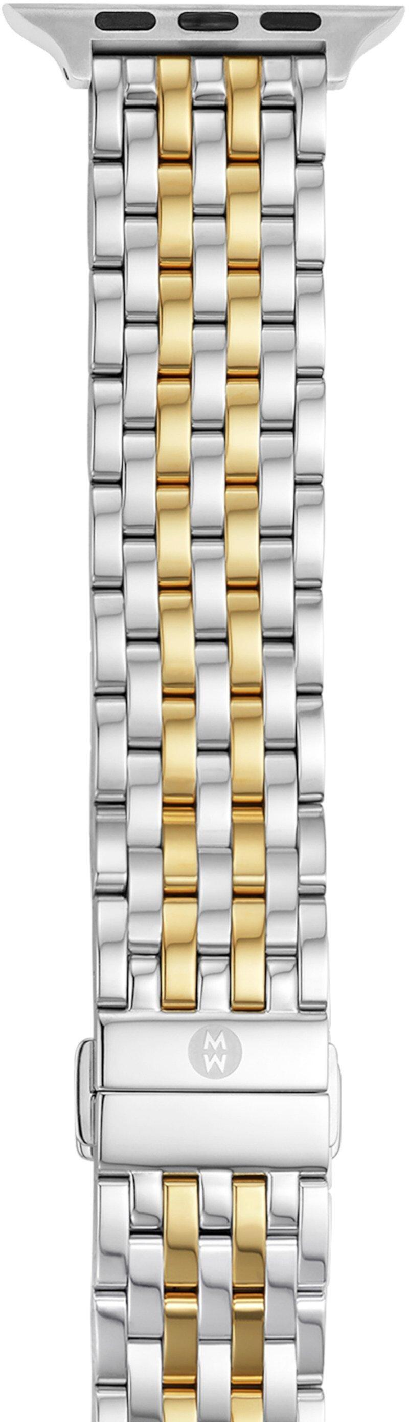 Двухцветный позолоченный браслет из 18 карат для Apple Watch Michele