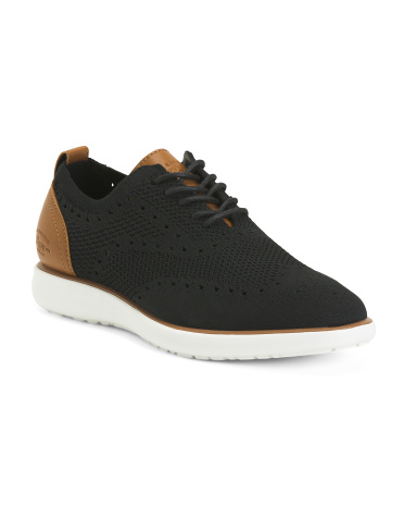 Men's Knit Casual Lace Up Sneakers Bass