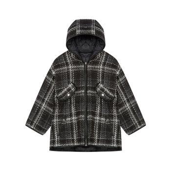 Двусторонняя твидовая куртка-пуховик Maje