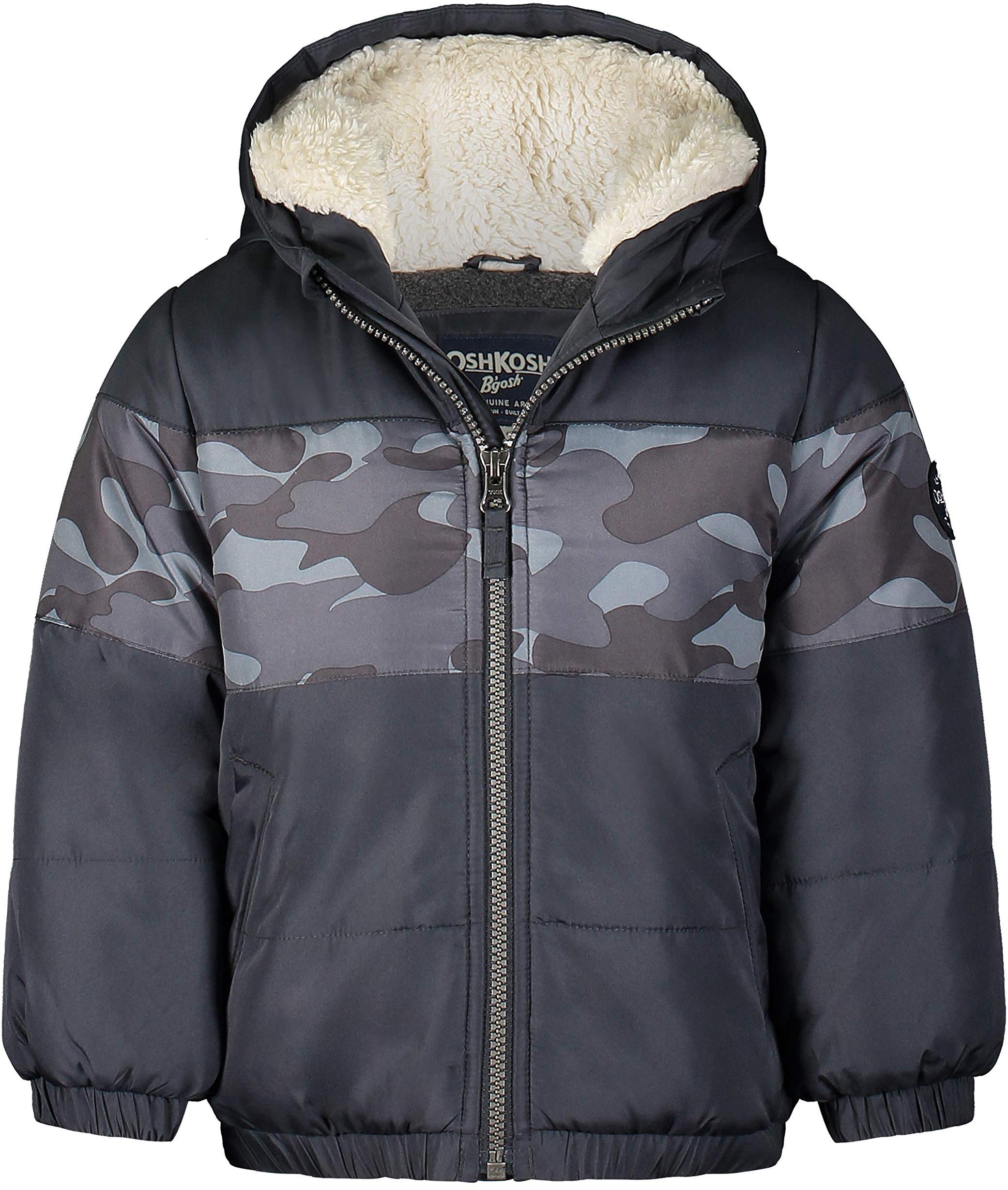 Плотная зимняя куртка с подкладкой из искусственной шерпы OshKosh B'gosh