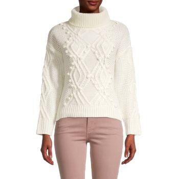 Pom-Pom Turtleneck Sweater Cliche