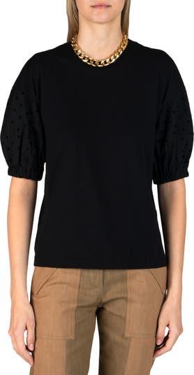 Блуза в горошек с объемными рукавами Harvey DEREK LAM 10 CROSBY