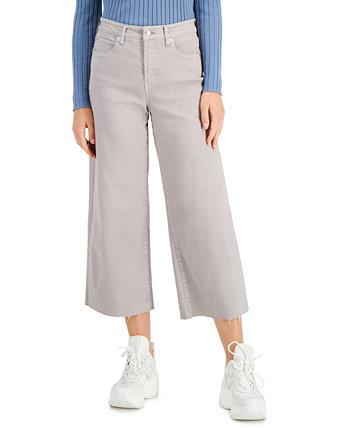 Укороченные широкие джинсы OAT