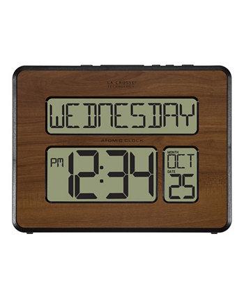 Цифровые часы с полным календарем и очень большими цифрами Atomic La Crosse Technology
