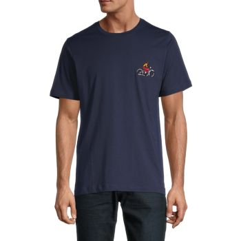 Bike Rider Embroidery T-Shirt BUGATCHI