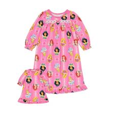 Disney's Princess Toddler Girl Night Gown & Doll Gown Set Licensed Character