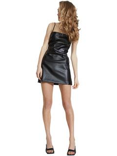 Anabelle Vegan Leather Dress Bardot