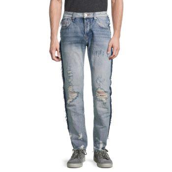 Прямые потертые джинсы Greaser Slim Straight Cult Of Individuality