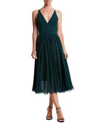 Платье Alicia с кружевным подолом Dress the Population