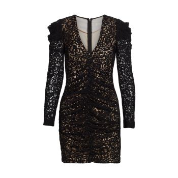 Кружевное мини-платье Liv со сборками и кордом Jonathan Simkhai