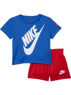 Комплект из двух частей: футболка с короткими рукавами и логотипом (для малышей) Nike Kids