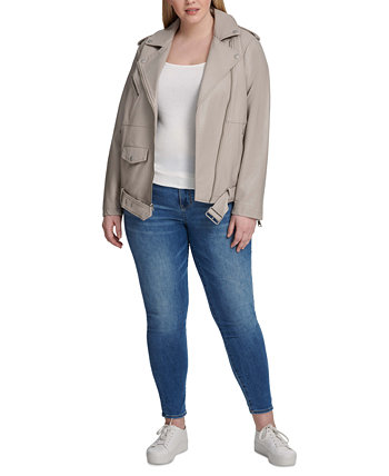 Модная большая мото куртка из искусственной кожи большого размера Levi's®