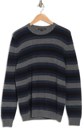 Кашемировый свитер с круглым вырезом и принтом в полоску омбре Autumn Cashmere