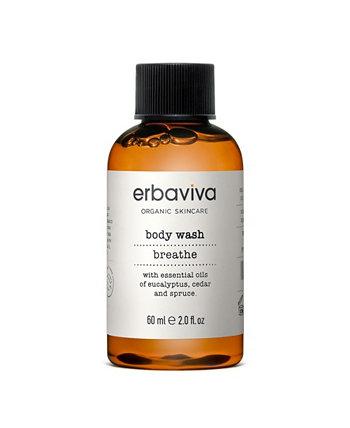 Гель для душа Breathe Travel, 2 жидких унции ERBAVIVA