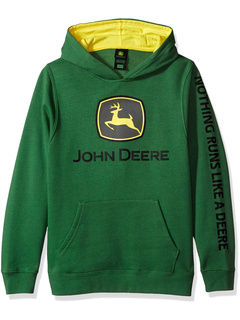 John Deere Trademark Fleece Pullover Hoodie John Deere