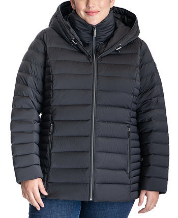 Plus Size Hooded Down Puffer Coat, Created for Macy's Michael Kors