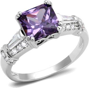 Обручальное кольцо Purple CZ Covet
