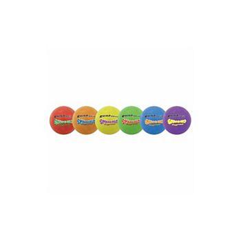 7.5 in. Rhino Skin Super Squeeze Playground Ball Set, Multicolor - Set of 6 HappyHealth