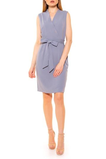 Платье-футляр с запахом без рукавов саванны ALEXIA ADMOR