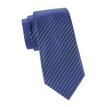Полосатый шелковый галстук Armani Collezioni