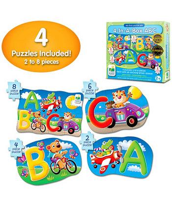 Моя первая головоломка состоит из 4 пазлов в коробке - ABC The Learning Journey