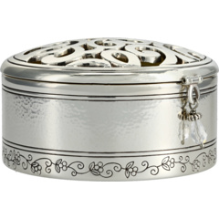 Skribble Round Jewelry Trinket Box Brighton