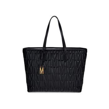 Стеганая кожаная сумка-тоут Moschino