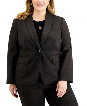 Пиджак большого размера с отложным воротником и одной пуговицей Kasper