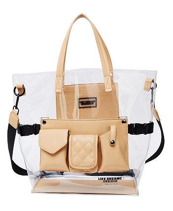 Прозрачная большая сумка в стиле ретро LIKE DREAMS