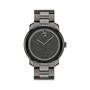 Смелые кварцевые часы с кристаллами IP из нержавеющей стали Movado