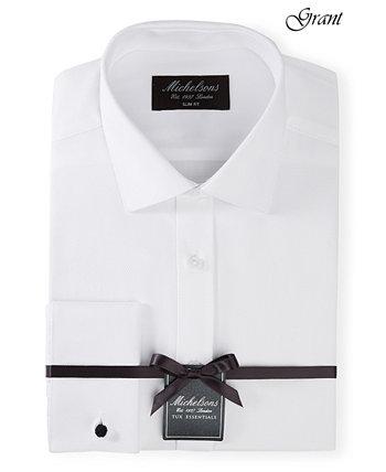 of London Мужская облегающая рубашка со смокинговым вырезом из плотной французской ткани Michelsons
