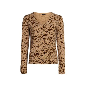 Кашемировый свитер с принтом гепарда ATM Anthony Thomas Melillo