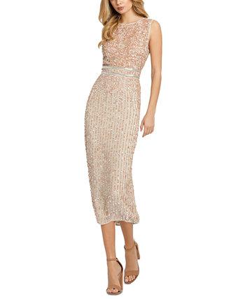 Платье миди с пайетками MAC DUGGAL