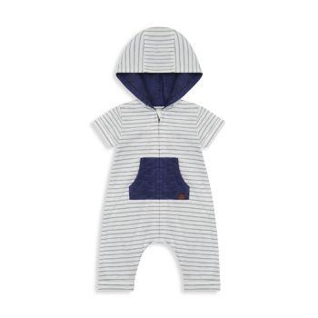 Полосатый комбинезон с капюшоном для маленьких мальчиков Miniclasix