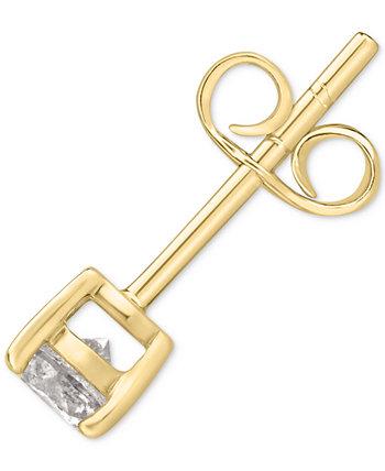 Мужская серьга-гвоздик с одним бриллиантом (1/4 карата) Macy's